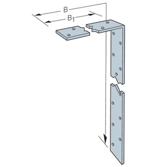 Simpson Strong-Tie Bend Light Strap 1200mm (L12B10)