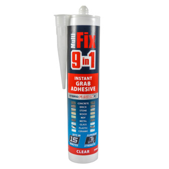 TIMco MultiFix 9 in 1 Instant Grab Adhesive Clear 290ml (247972)