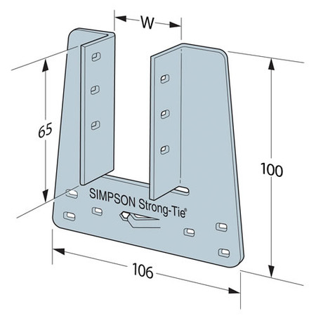 Genuine Simpson Strong Tie 38mm Truss Clips for Girders Trusses /& Rafters TCP38
