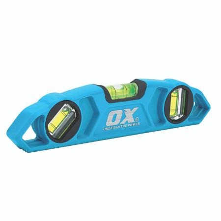 OX Tools OX-T026323 Trade Torpedo Level 230mm Blue 250mm