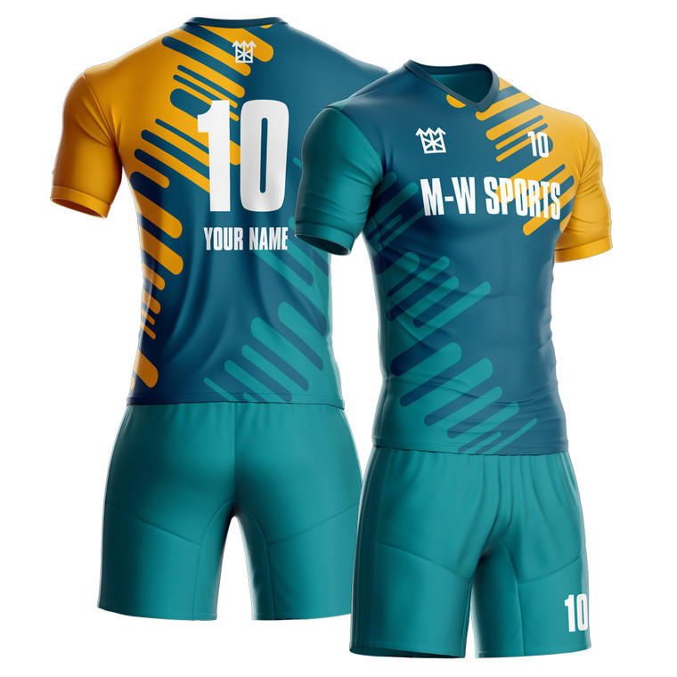 design fashion soccer uniform custom your team jerseys with your team name, number, and your name real personalization custom jersey.