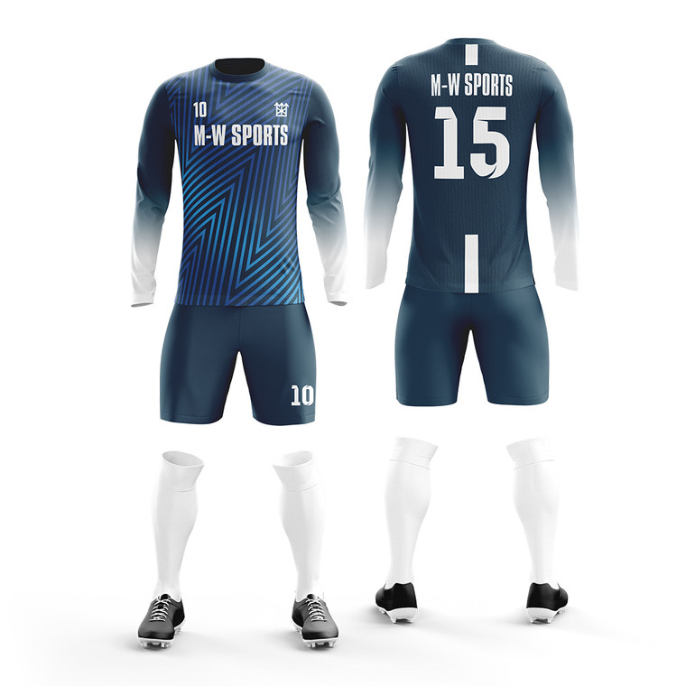 custom long sleeve Soccer Wears Personal Number Soccer Jersey High Quality Soccer Jersey For Clubs Wholesale