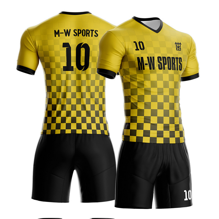 Custom  Lined Breathable Sublimated Soccer Wear Quick Dry Football Uniforms