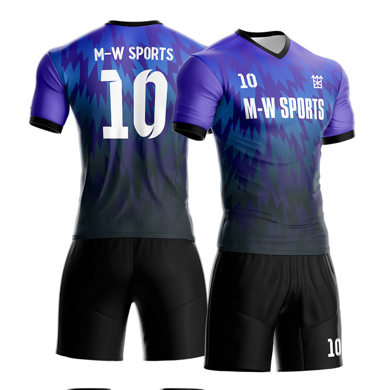 Custom men/Youth Sublimated soccer Uniforms Home And Away team Jersey