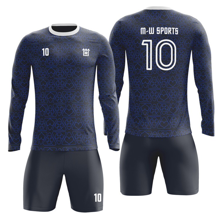 Men/Youth/kids long sleeve Soccer Jerseys Low Price Custom Your Logo And Names