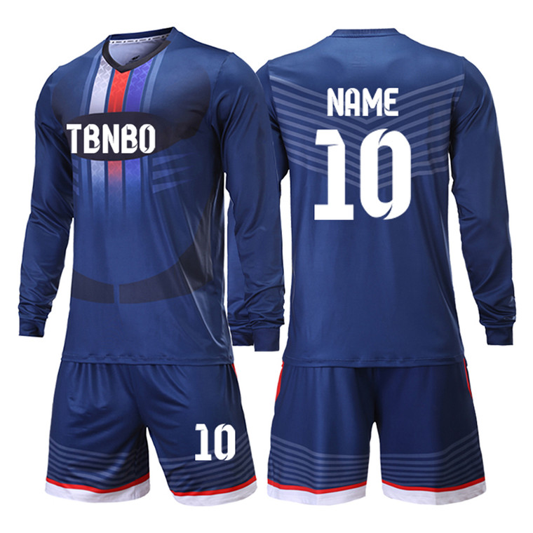 Long  sleeve soccer jerseys custom your name and number free desin