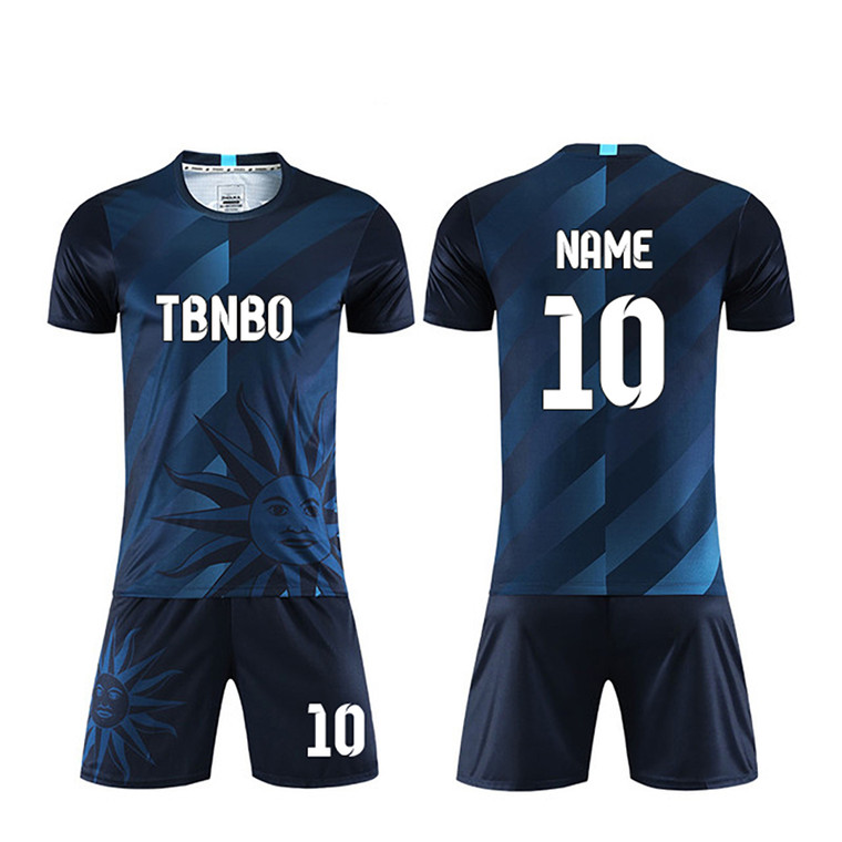 Blue/Green Color Gradient Custom Soccer Jerseys Print logo your name number plus size