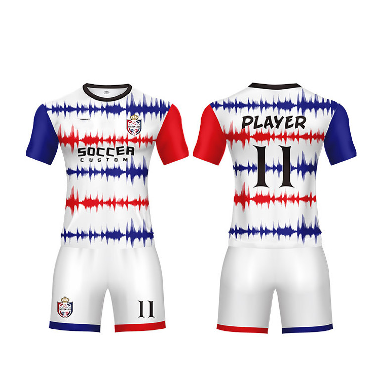 Customized Soccer Uniform With Logo, Team name, Player And Number