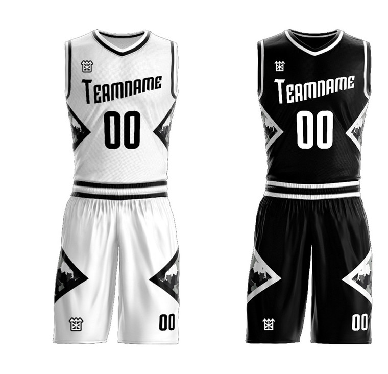 Custom Reversible Basketball Team Uniforms free add your logo, name ,number