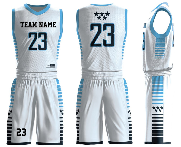 Custom basketball team uniforms V Neck Your Own Dry Fit add with your logo , name ,number