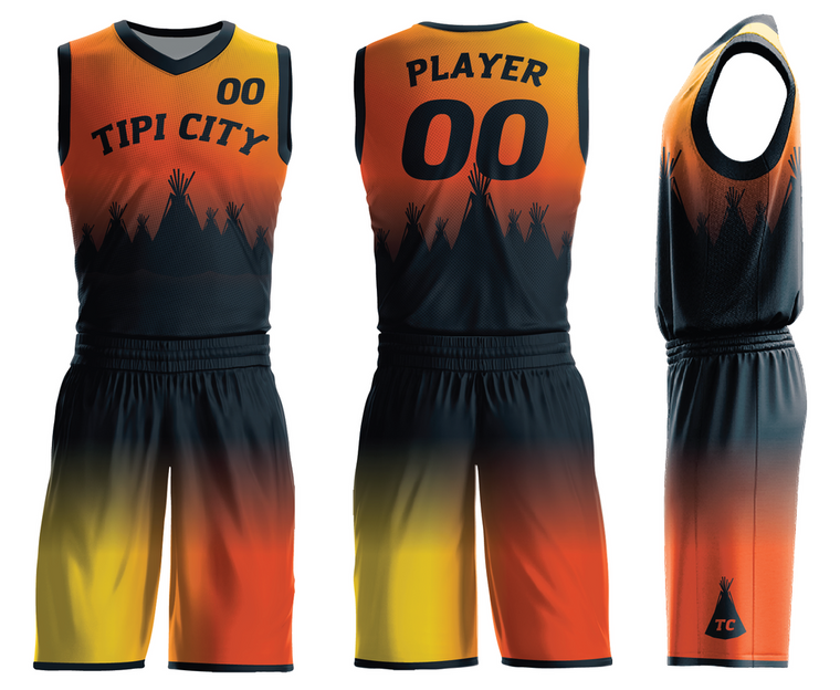 Custom basketball Tipi city jerseys & shorts V Neck Your Own Dry Fit add with your logo , name ,number