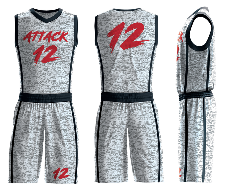 Custom grey basketball team jerseys for men/kids/youth youth kids team sport uniforms add with logo, team name ,number