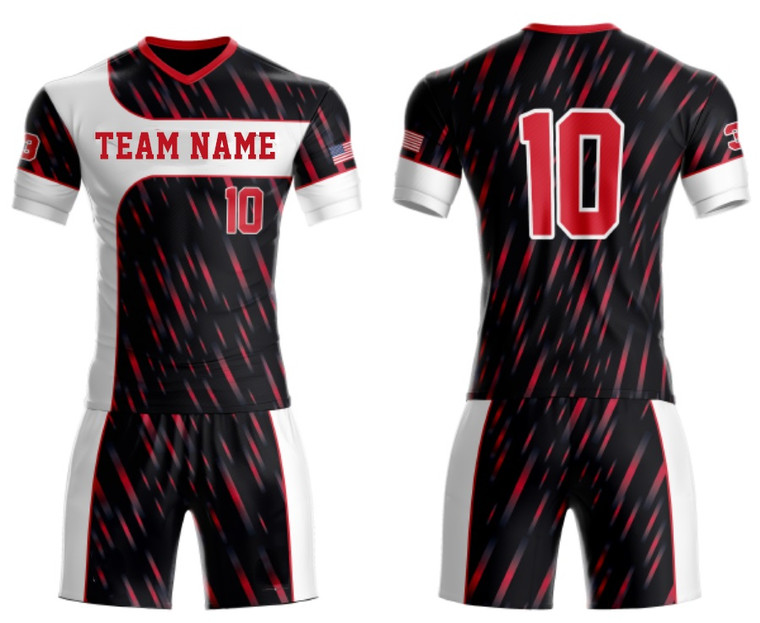 Customized Soccer team Uniform Meteor shower design jerseys With Logo, Team name, Player And Number