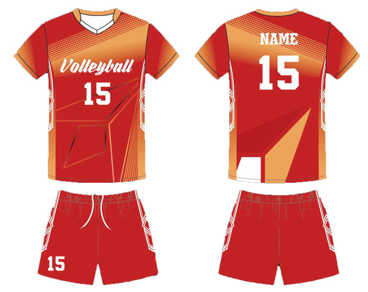 Custom volleyball team uniforms for men women jerseys design add with your team logo, player name and number.