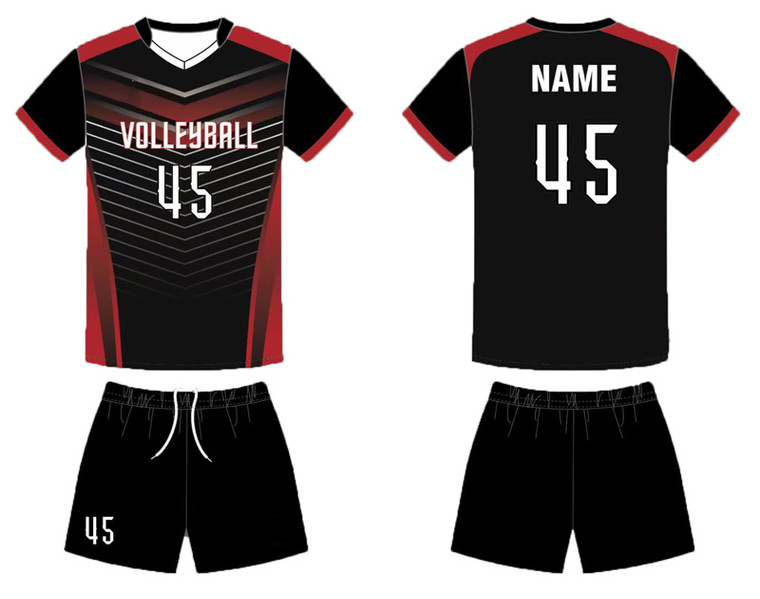 Custom cheap volleyball team uniforms for men women jerseys design add with your team logo, player name and number.
