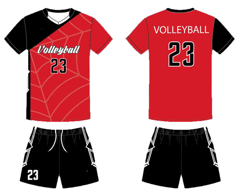 Custom volleyball team jerseys & shorts for men women jerseys design add with your team logo, player name and number.