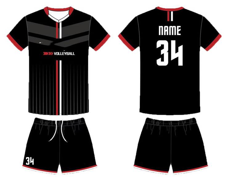 custom volleyball jersey for your own design free add with logo, name and number , black volleyball jerseys
