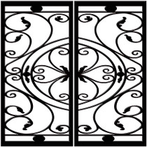 DD1 Faux Iron (set of two - enter size for one window)