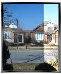 Exterior solar control window film vlt 45 onyx