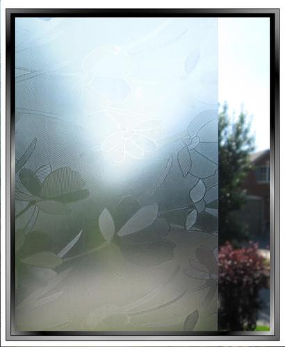 Embossed Flowers - DIY Decorative Light Duty Window Film