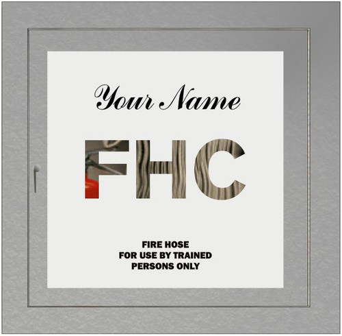 FHC printed logo and printed message