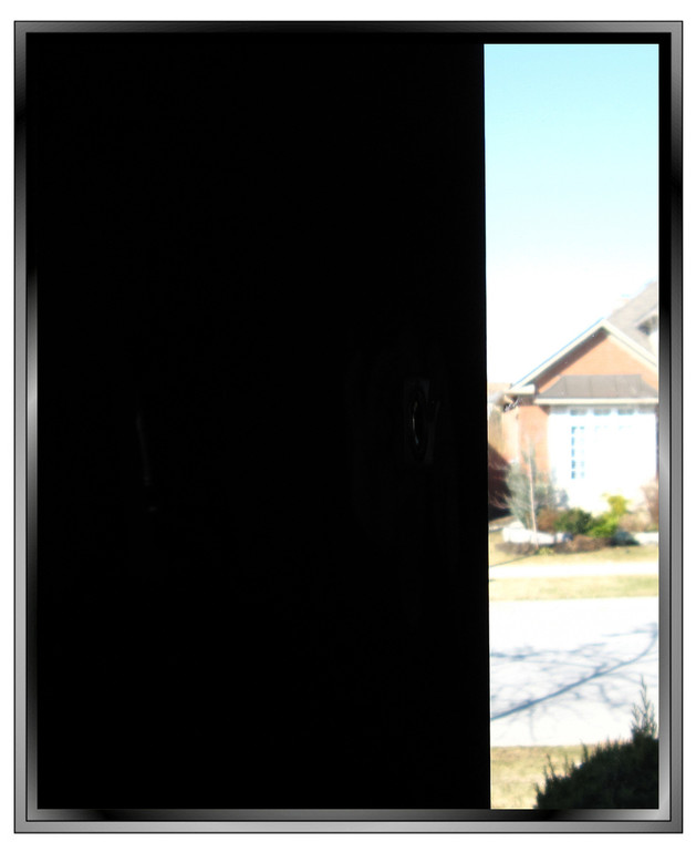 Opaque Blackout window film with glossy finish on both sides