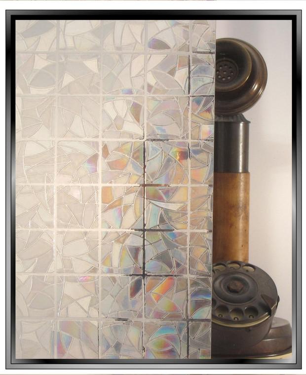 geometric rainbow squares decorative window film