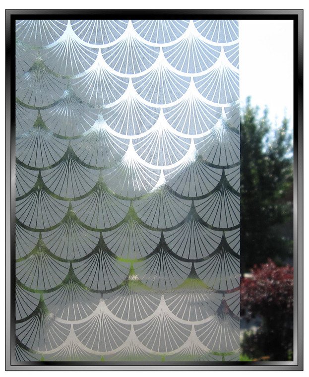 Painted Fans - DIY Decorative Light Duty Window Film