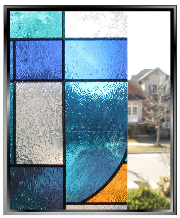 abstract stained glass window film pattern from apex