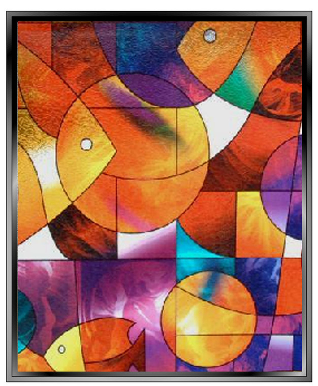 Apex Stained Glass - Fish - DIY Decorative Privacy Window Film