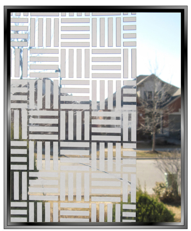 Four Squared Frost Stripes - DIY Decorative Privacy Window Film