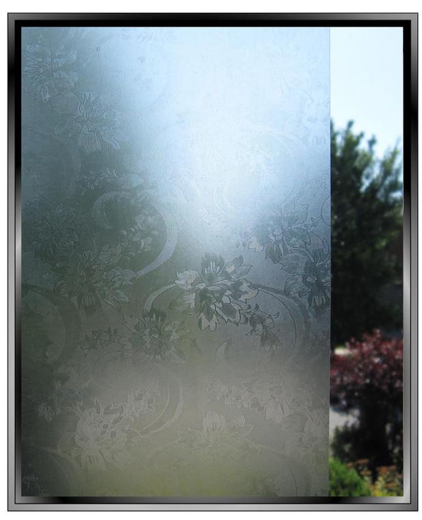 Delicate Floral - DIY Decorative Light Duty Window Film
