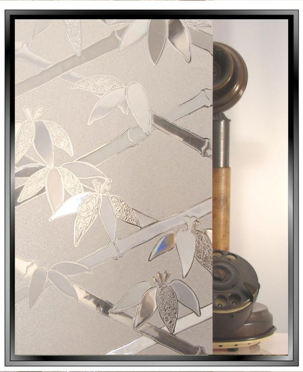 Bamboo 3D - Static Cling Window Film