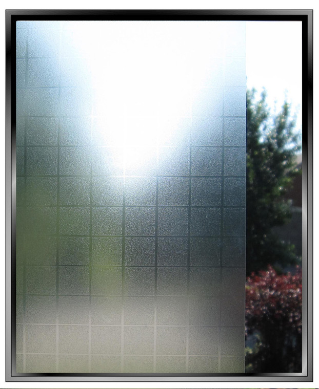 Vinyl Matte Squares - DIY Decorative Light Duty Window Film