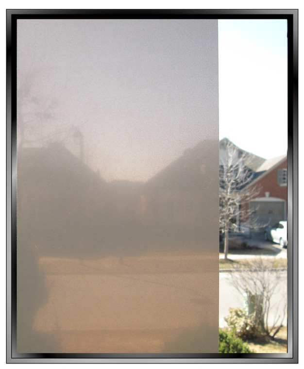 Apex Coco Frost decorative privacy window film - warmer than regular frost