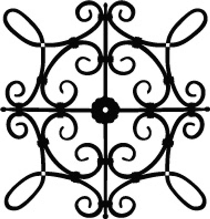 xcs SQ1 Faux Wrought Iron Pattern - Custom Size