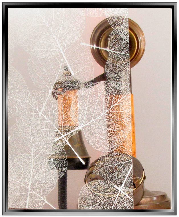 dp Transparent Leaf - DIY Decorative Window Film