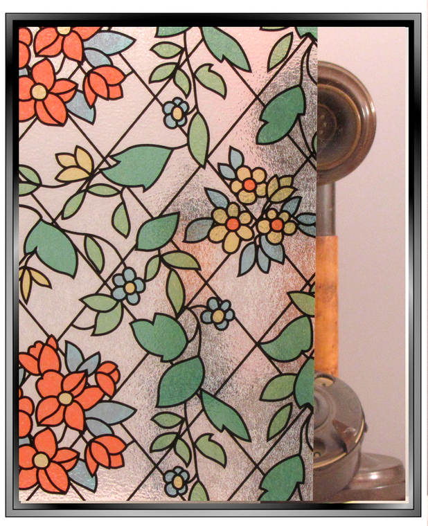 Apex Stained Glass - Floral - Window Film