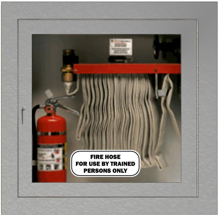 Fire Hose Cabinet Sticker Black on White
