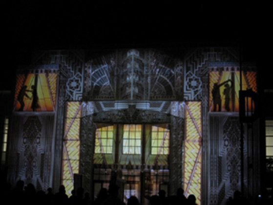 Transforming a Building Into a Projection Screen