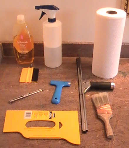 diy window film installation tools