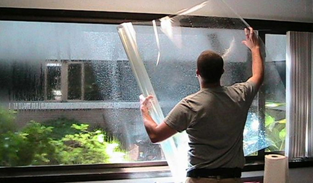 Installing clear window film