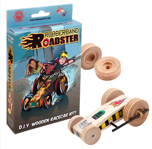 Rubberband Roadster Wooden Car Kit