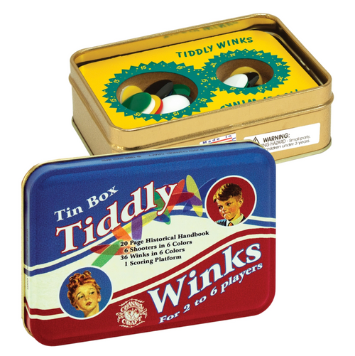 Tiddly Winks in a Classic Toy Tin