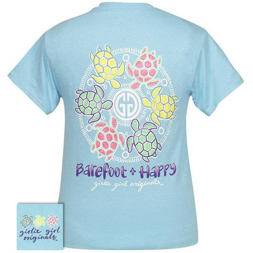 Barefoot and Happy Sky Blue - Girlie Girl