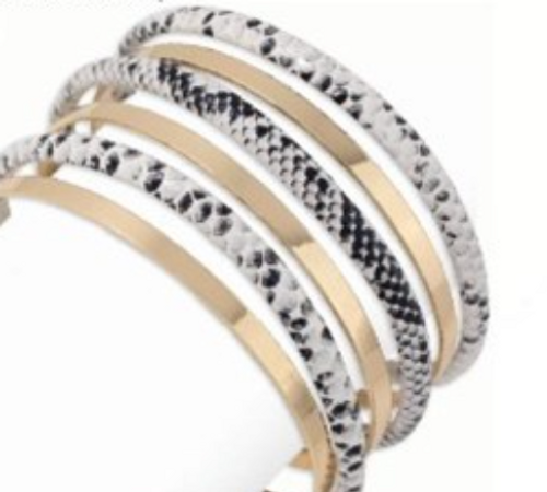 Gold and Snakeskin Bands