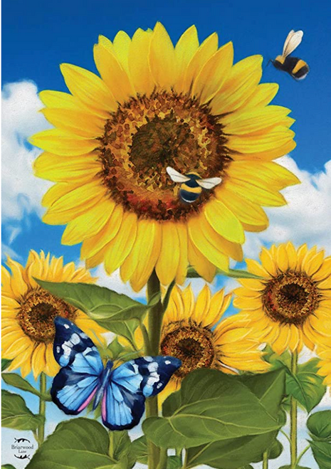 Sunflowers and Bees Garden Flag