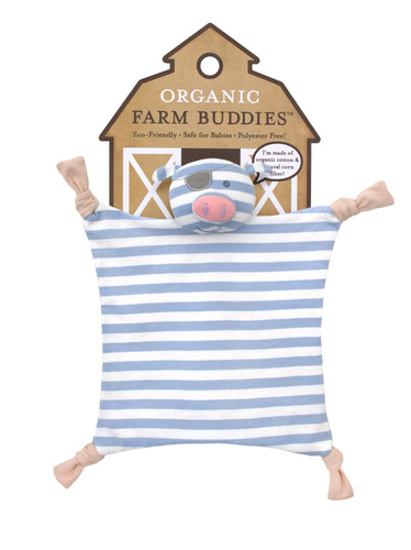 Organic Farm Buddies - Pirate Pig Organic Blankie