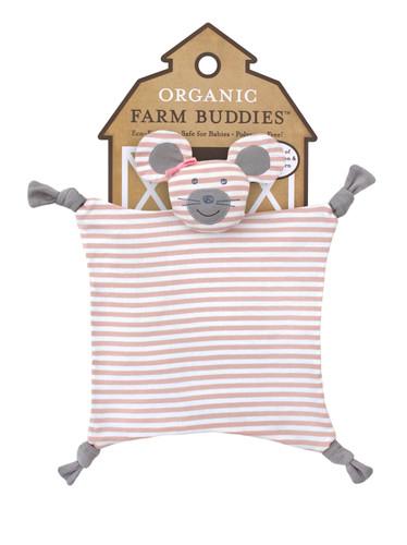 Organic Farm Buddies - Ballerina Mouse Organic Blankie