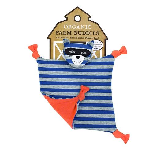 Organic Farm Buddies - Robbie Raccoon Organic Blankie